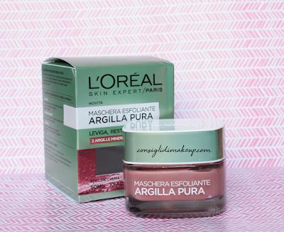 L'Oreal Argilla Pura Maschera Esfoliante, per una pelle purificata!