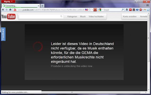 تحميل اضافة فك حجب اليوتيوب فايرفوكس ProxTube - Unblock YouTube 2.1.0