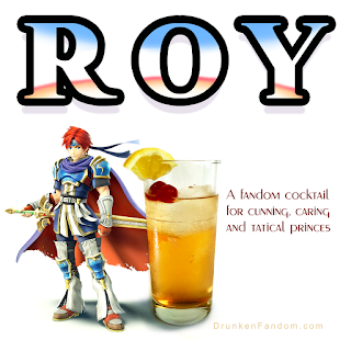 The Roy cocktail, celebrating Fire Emblem and Super Smash Bros