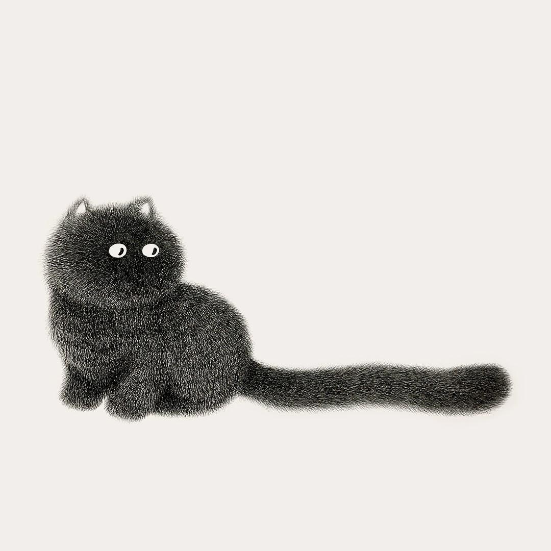 05-Kitty-No-17-Kamwei-Fong-14-Furry-Cats-and-1-Furry-Monkey-Drawings-www-designstack-co