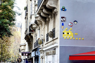 Sunday Street Art : Invader - rue des Pyrénées - Paris 20