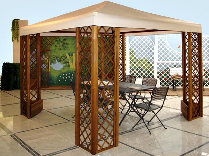 Beautiful gazebo designs of home and garden for Gazebo da terrazzo