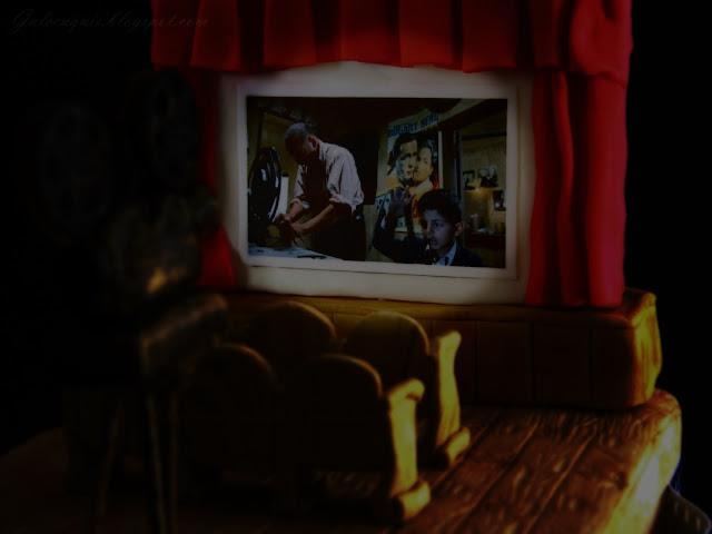 Tarta fondant Sala de cine Antigua