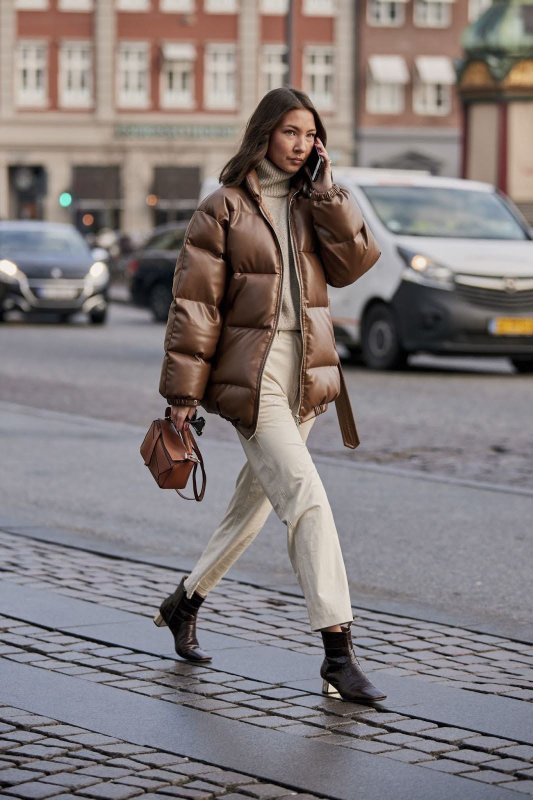 An Elevated Street Style Take on the Puffer Coat