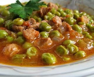 рецепт мяса по-турецки с зеленым горошком