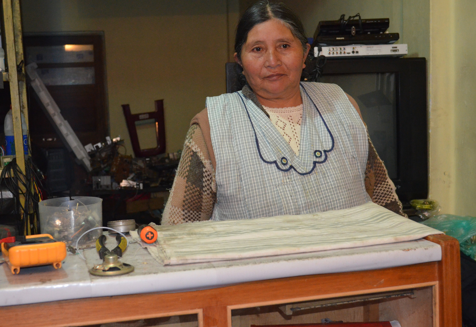 Segundina Flores migró a La Paz a la edad de 10 años para buscar  mejores días / ALBERTO MEDRANO