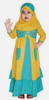 Contoh desain baju muslim terbaik untuk putri anda