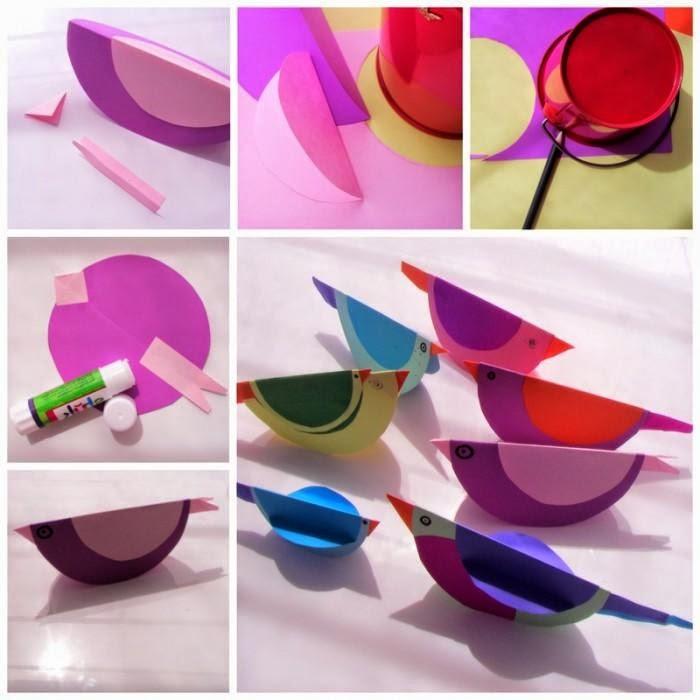 Simple and eazy paper bird crafts for kids fun activity also rh creativeandinnovativestuffsspot
