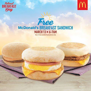 FREE McDonald's Breakfast Sandwich, McDonalds Free, National Breakfast Day
