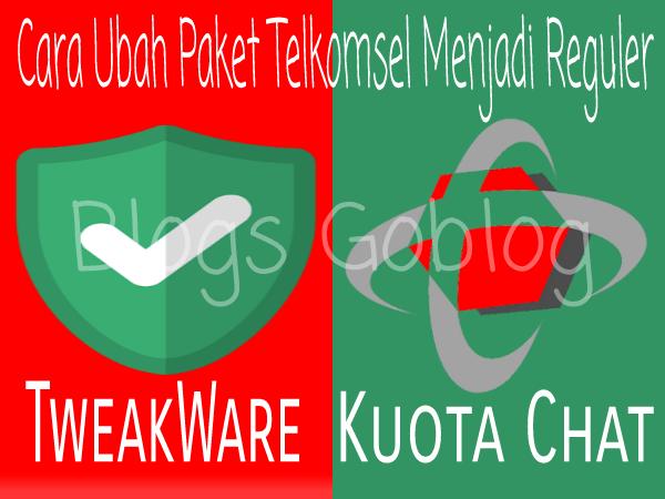 Cara Cara Setting Tweakware Untuk mengubah Kuota Telkomsel Kuota Chat/Facebook Terbaru 2019