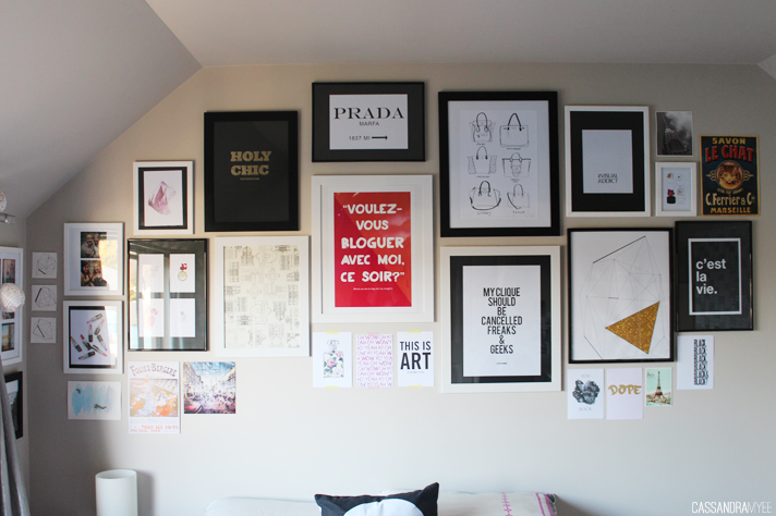 BEDROOM UPDATE // Mini Gallery Wall - cassandramyee