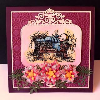 Our Daily Bread Designs, Baby Jesus, Filligree Frames dies, Peaceful Poinsettia Dies, Lovely Leaves dies, designed by DJ Rants