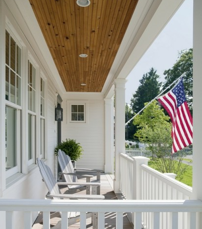 Front Porches & the American Flag on