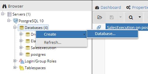 Create Database in PostgreSQL