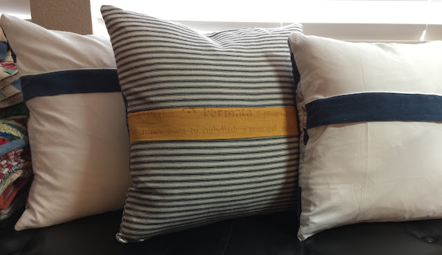 Pillow backs with hidden zippers