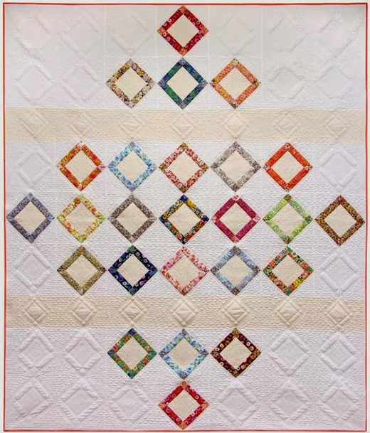 Faraway Quilt designed by Amy Sinibaldi of Robert Kaufman Fabrics, London Calling by Studio RK