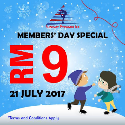Sunway Pyramid Ice Skating Members' Day Special Discount Price Promo