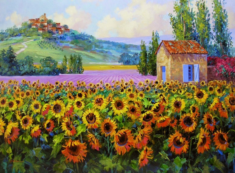 Mikki Senkarik 1954 | American Plein-air painter | A Touch of Greece