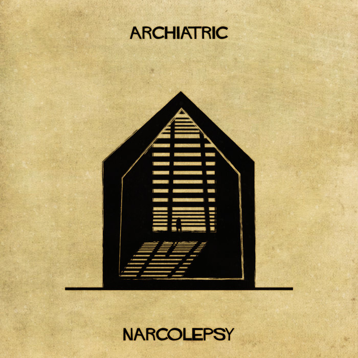 16 Mental Disorders Illustrated Through Architecture - Narcolepsy