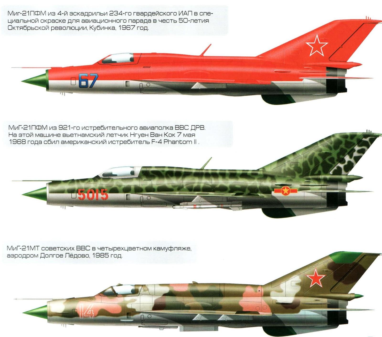 Миг-21 схема самолета