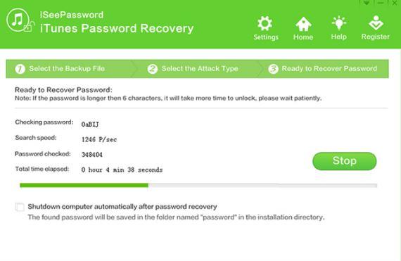 iSeePassword iTunes Passsword Recovery Tool 5