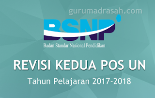 revisi kedua pos un 2017-2018