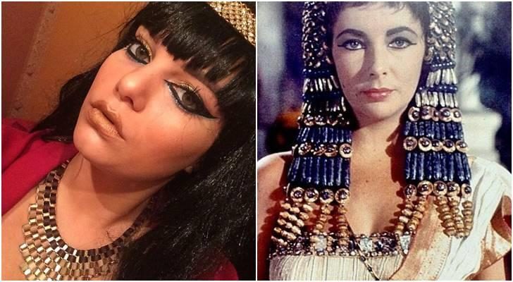 10 Foto Wanita Pakai Busana Legenda Ratu Cleopatra Mesir, Asli Keren Banget