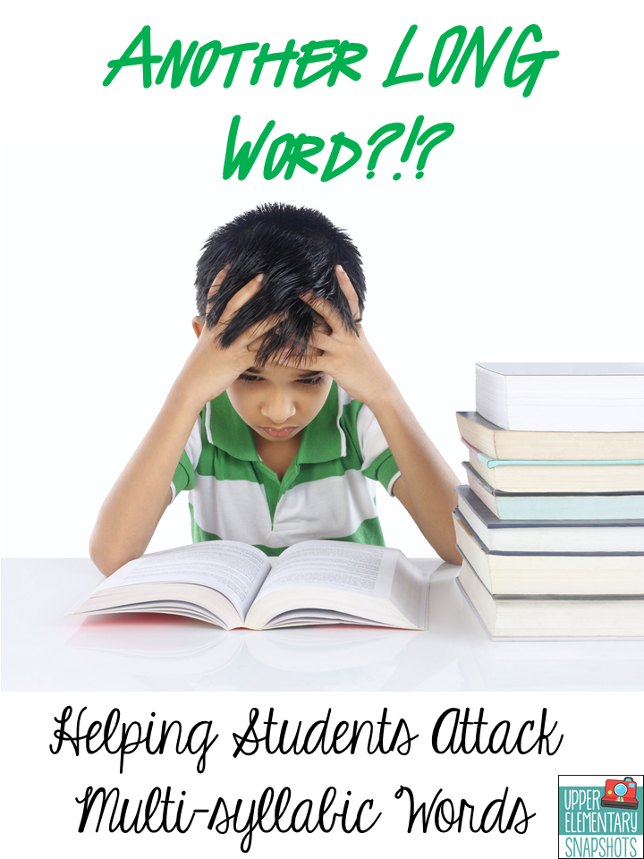 Do you have students who struggle when they encounter long words when reading? Use this process for helping students learn to decode multi-syllable words correctly and independently!