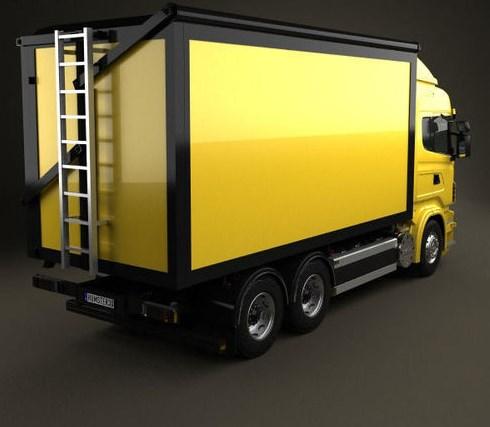 wing box truk tronton tampak belakang