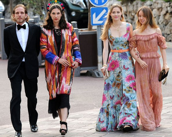 Beatrice Borromeo, Princess Alexandra of Hanover, Tatiana Santo Domingo and Andrea Casiraghi at the MC Fashion Week 2017 for Muzungu Sisters Store