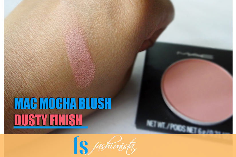 Mac Mocha Blush finishing quality
