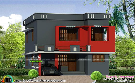 Dark color painted modern home