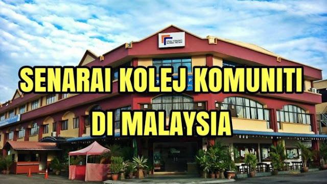 Senarai Kolej Komuniti Di Malaysia
