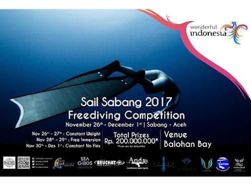 Sail Sabang 2017 Freediving Competition