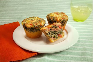 Receita de Muffins de espinafre com atum