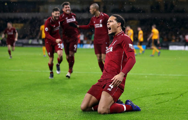 EPL: Wolves 0-2 Liverpool: Salah And Van Dijk Help The Reds TO Stay Top Through Christmas