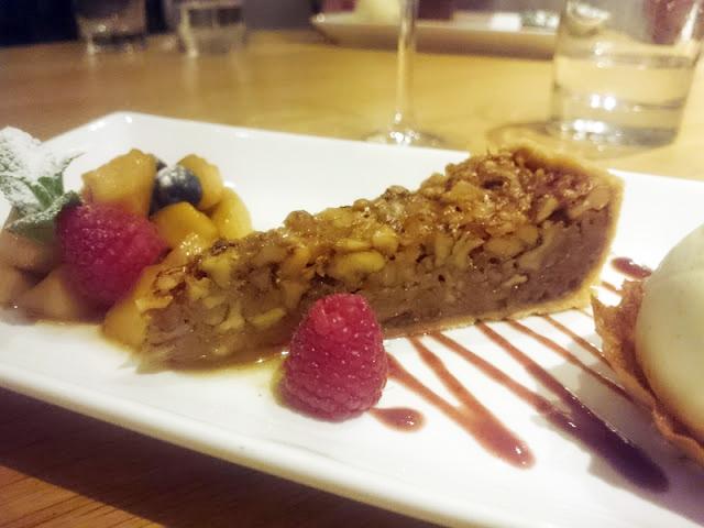 Wingrove House Alfriston walnut and honey tart