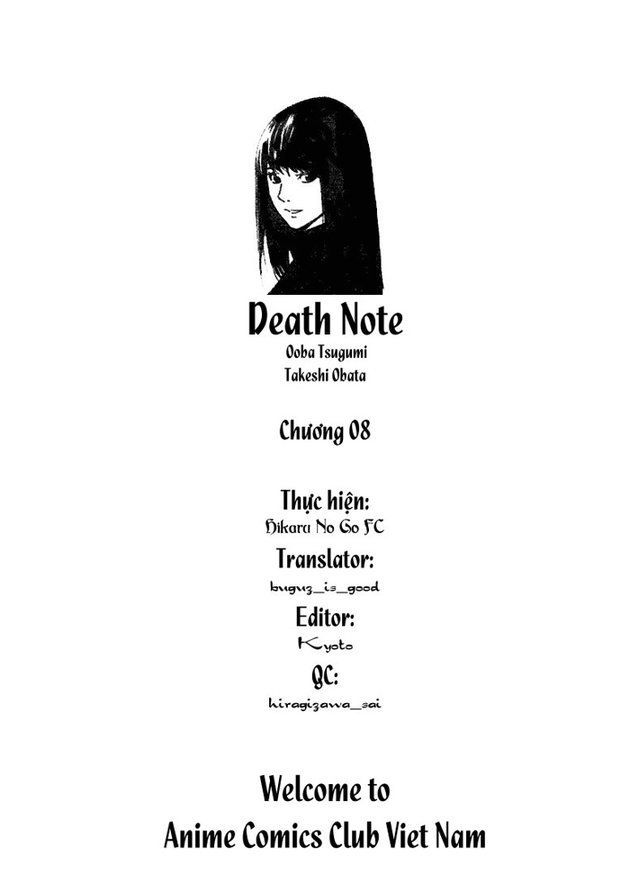 Death Note chapter 008 trang 1