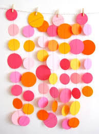 2 Birthday Party Background Decoration With Colored Papers