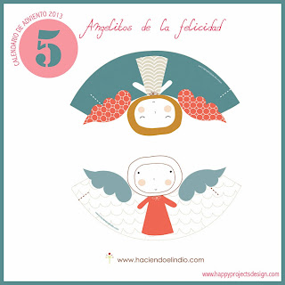 Calendario de adviento 2013. DIA 5: Angelitos de la felicidad de www.haciendoelindio.com