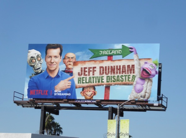 Jeff Dunham Relative Disaster billboard
