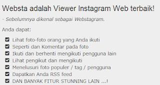 mengakses instagram melalui web