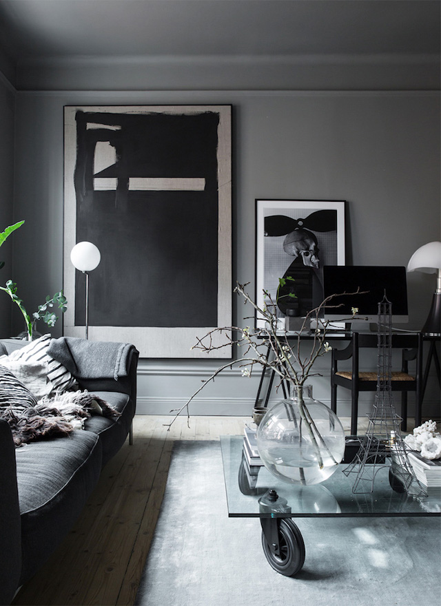 The atmospheric home of a Swedish interior designer