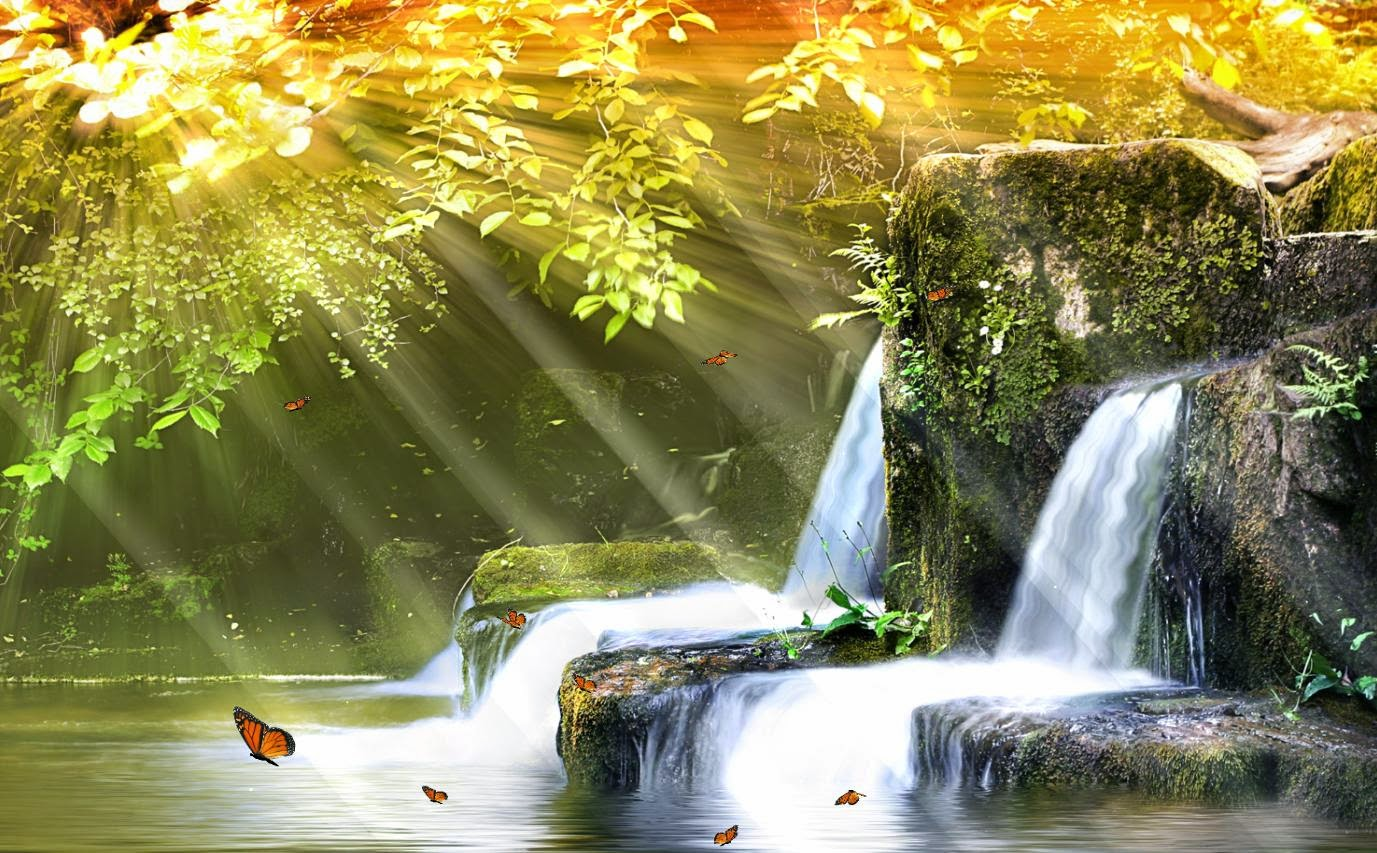 Animated Waterfall Wallpaper