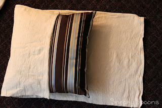 Sew Easy Drop Cloth Pillow Covers | SneakySpoons
