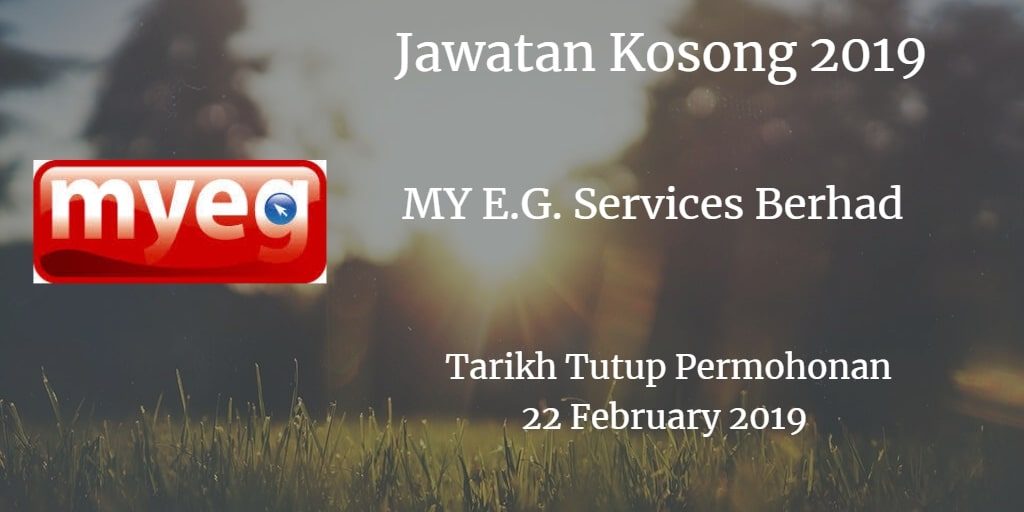 Jawatan Kosong MY E.G. Services Berhad 22 February 2019