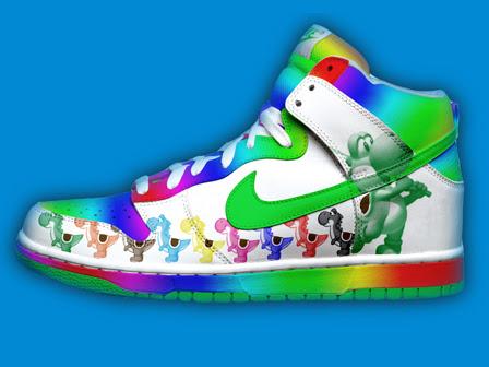 b1f90cff8191 Nike SB Dunk Cartoon Shoes   Super Mario Game Yoshi Nike Dunk SB ...