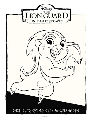 The Lion Guard Coloring Sheet Bunga