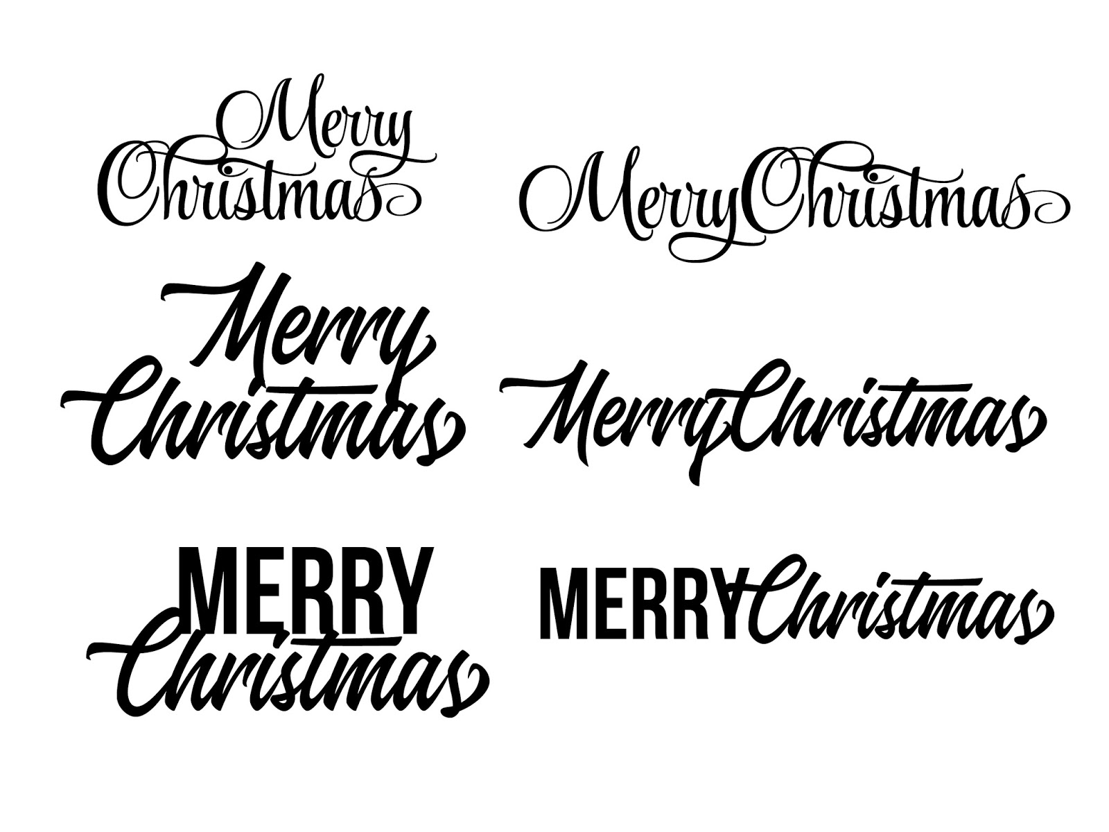 free merry christmas svg cut files