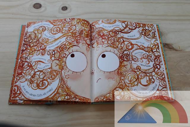 Página interior del libro ¡No quiero tener el cabello rizado!